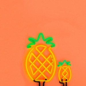 Tropical Neon Lights Pineapple