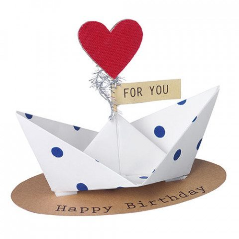 Bateau à message Happy birthday