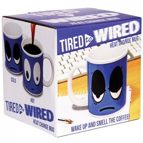 Mug thermosensible Tired to Wired