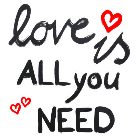 Serviettes - Love is all you need
