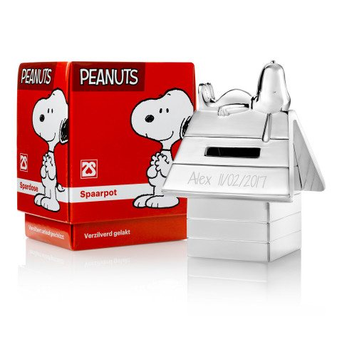 Tirelire Snoopy gravée Alex point